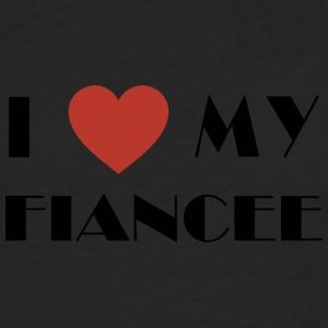 Engaged I Love My Fiancee - Men's Premium Longsleeve Shirt