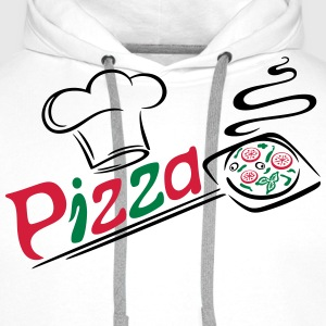 Pizza Bäcker mit Kochmütze, chef hat Tee shirts - Sweat-shirt à capuche Premium pour hommes