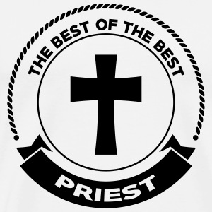 Priest Priester Prêtre Religion Cross Croix God  Aprons - Men's Premium T-Shirt