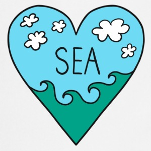 I love the sea! Mar, surf, verano, vacaciones, amo Camisetas - Delantal de cocina