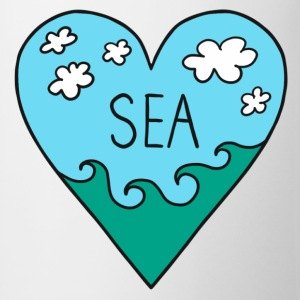I love the sea! mare, surf, estate, vacanze, cuore Magliette - Tazza
