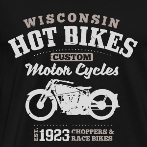 Wisconsin Hot Bikes Custom Motor Cycles Pullover & Hoodies - Männer Premium T-Shirt