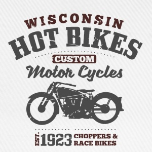 Wisconsin Hot Bikes  Sweaters - Baseballcap