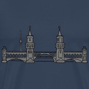 Oberbaum Bridge in Berlin 2 Long Sleeve Shirts - Men's Premium T-Shirt