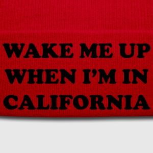 Wake me up when i'm in California T-Shirts - Winter Hat