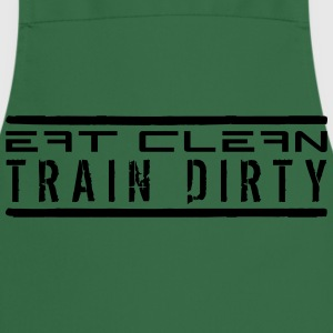 2 lines eat clean stamp buttons weight spoof cool  T-Shirts - Cooking Apron