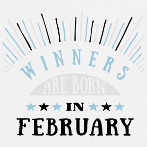 Winners Are Born In February - 3C Mix Tassen & Zubehör - Männer Premium T-Shirt