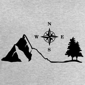 Nature, Mountain, Compass Tops - Men's Sweatshirt by Stanley & Stella