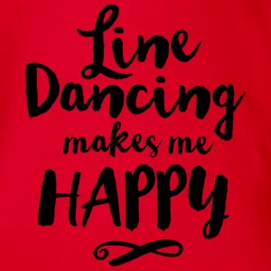 LINE DANCING MAKES ME HAPPY Shirts - Baby bio-rompertje met korte mouwen