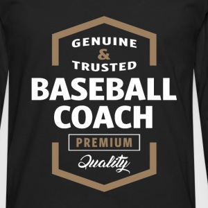 Baseball Coach Logo T-shirt - Men's Premium Longsleeve Shirt
