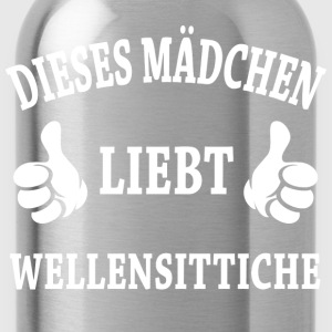 Wellensittiche T-Shirts - Trinkflasche