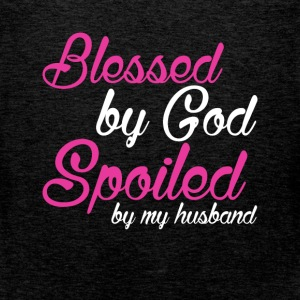 Blessed by God spoiled by my husband - Men's Premium Tank Top