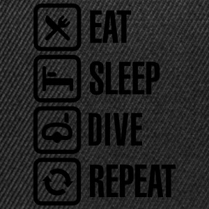 Eat Sleep Dive Repeat T-shirts - Snapbackkeps