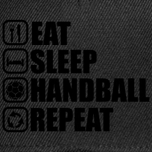 Eat,sleep,handball,repeat, handball t-shirt  - Snapback Cap