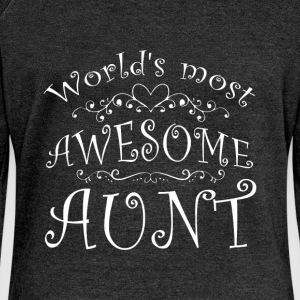 World's most awesome Aunt - Women's Boat Neck Long Sleeve Top
