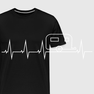 I love camping - heartbeat Other - Men's Premium T-Shirt