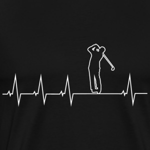 I love golf - heartbeat Hoodies & Sweatshirts - Men's Premium T-Shirt
