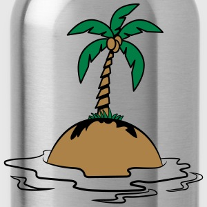Island holiday palms T-Shirts - Water Bottle