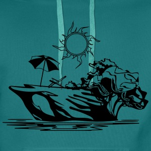 Island vacation sea sun relaxation T-Shirts - Men's Premium Hoodie