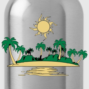 Island holiday sea sun T-Shirts - Water Bottle