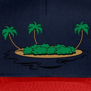 île vacances mer Tee shirts - Casquette snapback