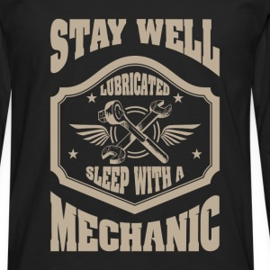 Stay well lubricated sleep with a mechanic - Men's Premium Longsleeve Shirt