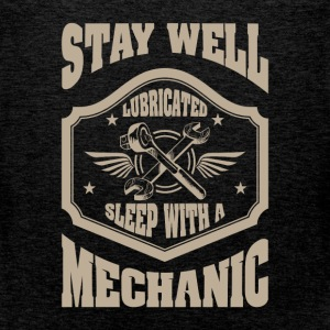 Stay well lubricated sleep with a mechanic - Men's Premium Tank Top