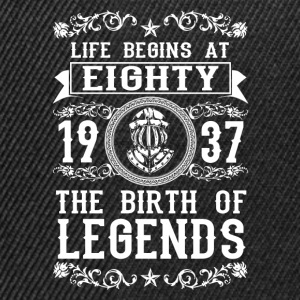 1937 - 80 years - Legends - 2017 T-shirts - Snapback cap