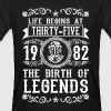 1982 - 35 years - Legends - 2017 T-Shirts - Männer Bio-T-Shirt