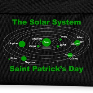 Green Solar Syatem for Saint Patrick's Day - Kids' Backpack