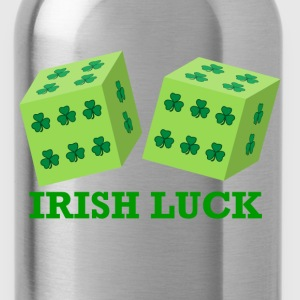 Irish Luck with Shamrock Dice  - Water Bottle