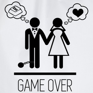 Game over,  Stag Do,stag,stag night,bachelor,party - Drawstring Bag