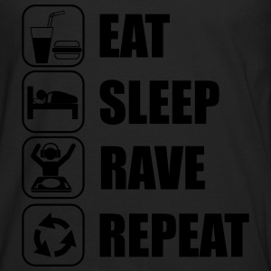 Eat,sleep,rave,repeat, rave t-shirt  - Herre premium T-shirt med lange ærmer