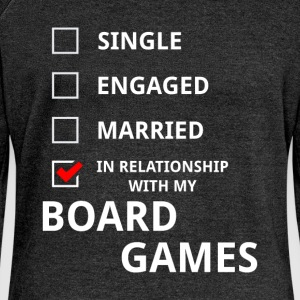 In relationship with my board games - Women's Boat Neck Long Sleeve Top