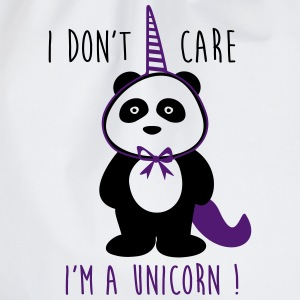I don't care i'm a unicorn - Sprüche - Turnbeutel