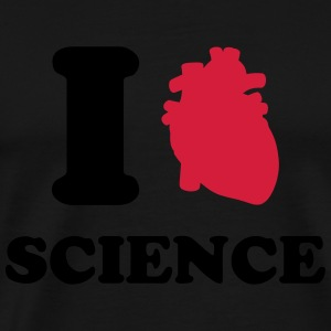 I love Science Sweatshirts - Herre premium T-shirt