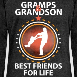 Gramps And Grandson Best Friends For Life T-Shirts - Women's Boat Neck Long Sleeve Top