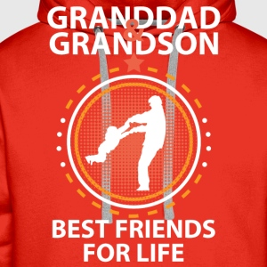 Granddad And Grandson Best Friends For Life T-Shirts - Men's Premium Hoodie