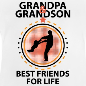 Grandpa And Grandson Best Friends For Life Shirts - Baby T-Shirt