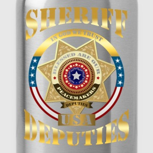 Sheriff - In God we trust. USA deputies - Water Bottle