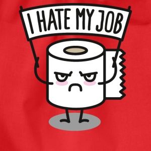 I hate my job - Toilet paper pixel Magliette - Sacca sportiva