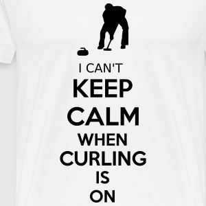 I Can't Keep Calm When Curling Is On Langarmshirts - Männer Premium T-Shirt