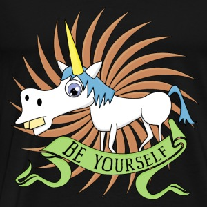 Unicorn be Yourself Tops - Männer Premium T-Shirt