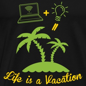 Life is like a holiday Sports wear - Men's Premium T-Shirt