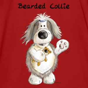 Bearded Collie With Teddy Hoodies - Men's Organic T-shirt