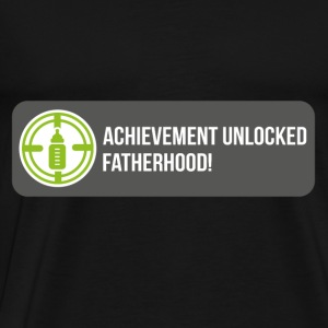 Achievement unlocked: fatherhood Long Sleeve Shirts - Men's Premium T-Shirt
