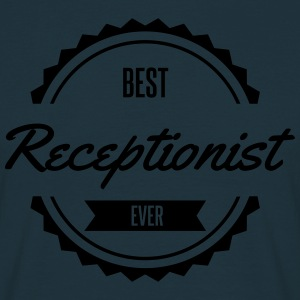 best receptionist  Aprons - Men's T-Shirt
