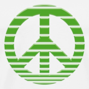 Peace Symbol gestreift green drop Buttons & Anstecker - Männer Premium T-Shirt