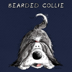 Playing Bearded Collie T-Shirts - Baseball Cap