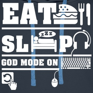 Eat Sleep PC T-Shirts - Men's Premium Hoodie